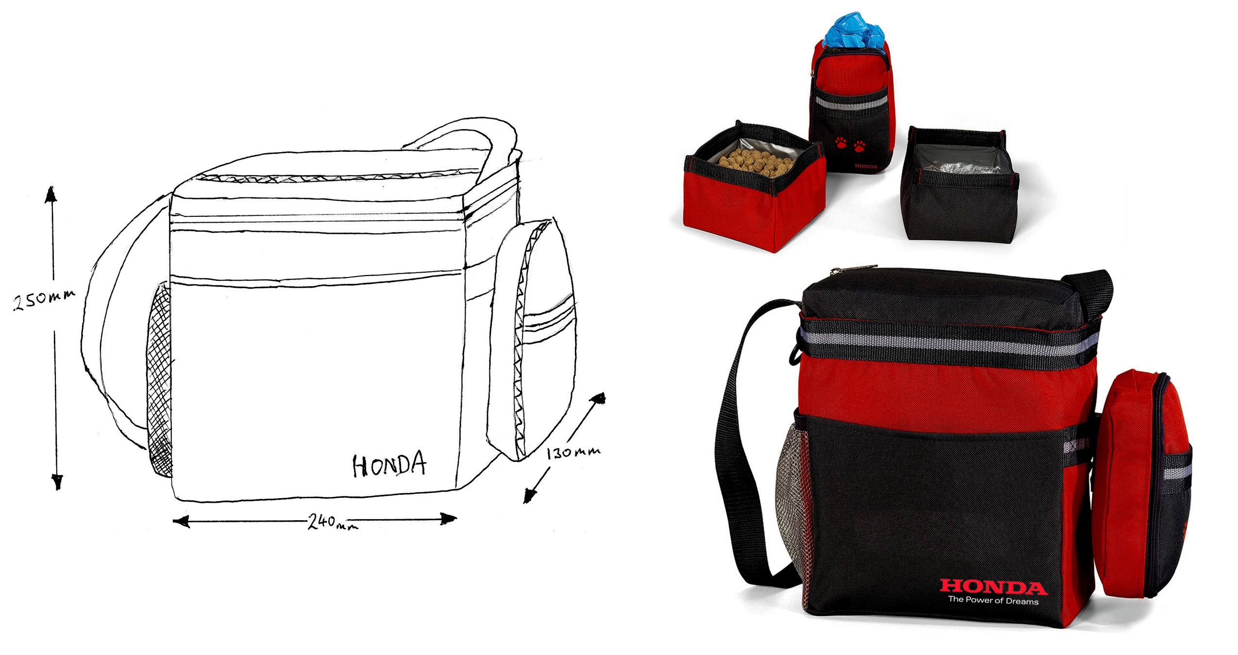 Honda Dog travel kit bag