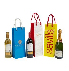 image of Laminated Bottle Carrier Bags