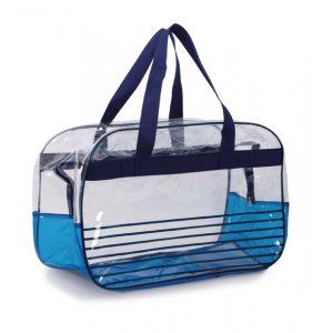 image of CL-10516S  Clear PVC Beach Bag