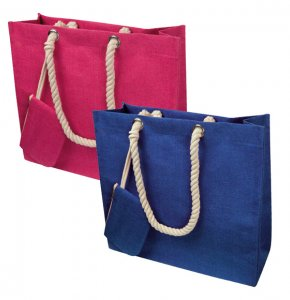 image of JU-60865S  Jute Beach Bag