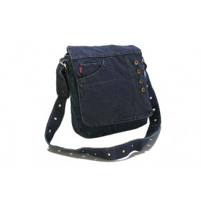image of FA-099  Denim Flapover Shoulder Bag