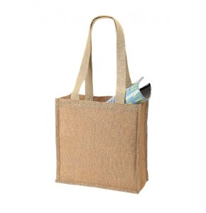 image of JU-102S  Jute Shoulder Shopping Bag