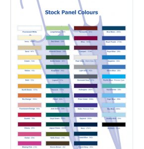 image of Stock Panel Colour Chart
