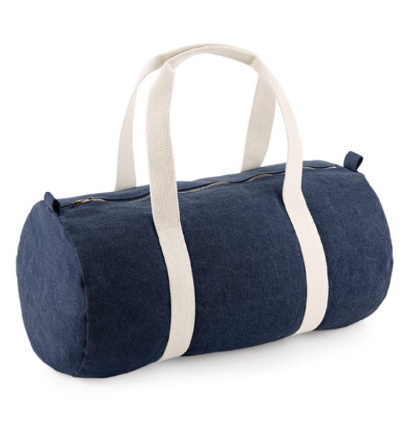 BA-646S  Denim Barrel Bag Image 0of 3