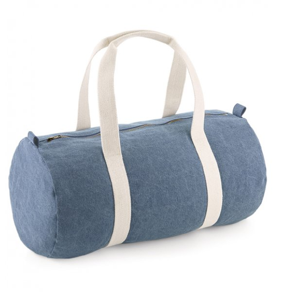 BA-646S  Denim Barrel Bag Image 1of 3