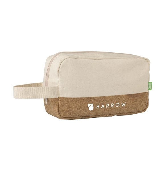 CA-1249S  Canvas Cork Wash Bag Image 0of 4