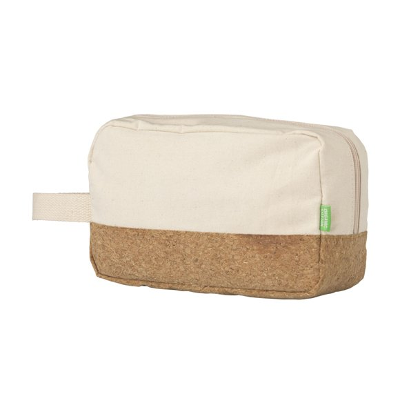 CA-1249S  Canvas Cork Wash Bag Image 2of 4