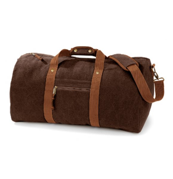 CA-613S  Vintage Canvas Holdall Image 2of 4