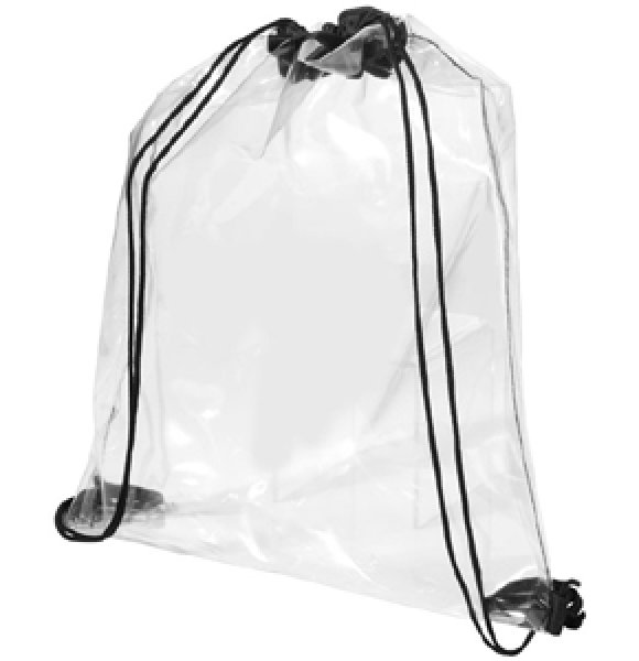 CL-563S  Clear Drawstring Backpack Image 1of 2