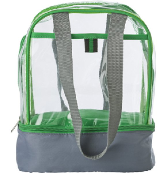 CL-931S Clear PVC Lunch Bag Image 1of 7