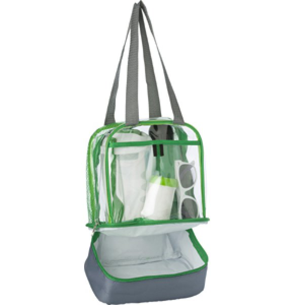 CL-931S Clear PVC Lunch Bag Image 2of 7