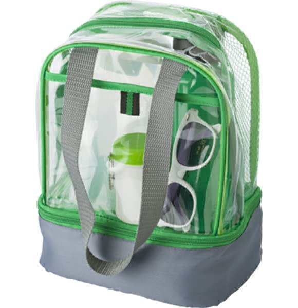 CL-931S Clear PVC Lunch Bag Image 0of 7