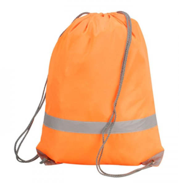 HV-563S  Hi-Vis Drawstring Backpack Image 1of 2