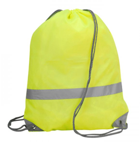 HV-563S  Hi-Vis Drawstring Backpack Image 0of 2