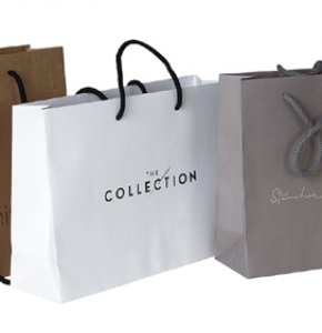 image of Kraft Paper Bags with Rope Handles