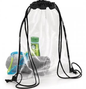 image of CL-070S  Clear Drawstring Backpack