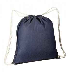 image of DNM-19164S  Denim-Look Drawstring Backpack