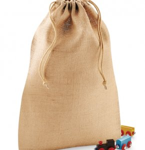image of JU-415S  Jute Drawstring Pouch